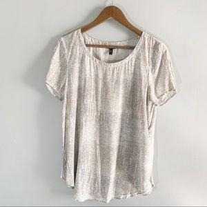Eileen Fisher Medium Silk Shirt